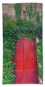 Red Door Bath Towel