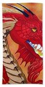 Red Dragon Bath Towel