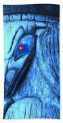 Red Eyed Raven Bath Towel