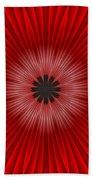 Red Floral Bath Towel