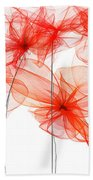 Red Floral - Red Modern Art II Bath Towel