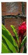 Red Flower Iv Bath Towel