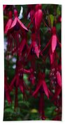 Red Fuchsia Bath Towel