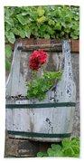 Red Geranium  Bath Towel