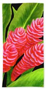 Red Ginger Flowers #235 Bath Towel