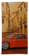 Red Gt3 Porsche Bath Towel