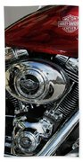 Red Harley Bath Towel