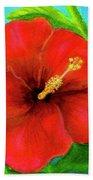 Red Hawaii Hibiscus #238  Hand Towel