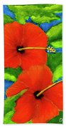 Red Hawaii Hibiscus Flower #267 Hand Towel