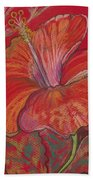 Red Hibiscus #1 Bath Towel