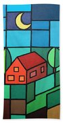 Red House Amidst The Greenery Hand Towel