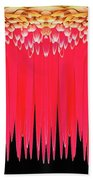 Red Icicles Bath Towel
