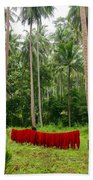 Red In The Jungle Bath Towel