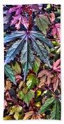 Red Leaf Hibiscus Bath Towel