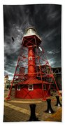 Red Lighthouse Bath Towel