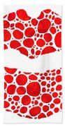 Red Lips Art - Big Kiss - Sharon Cummings Hand Towel