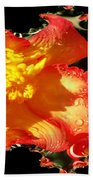Red N Yellow Flowers Bath Towel