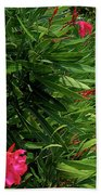 Red Oleander Arbor Bath Towel