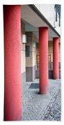 Red Pillars Bath Towel