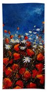 Red Poppies 451108 Bath Towel