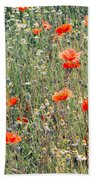 Red Poppies In A Summer Sun Bath Towel