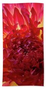 Red Purple Dahlia Flower Summer Dahlia Garden Baslee Troutman Bath Towel