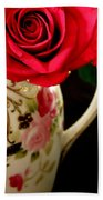 Red Red Rose Bath Towel