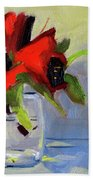 Red Rhody Hand Towel