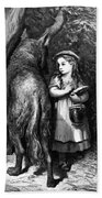 Red Riding Hood Meets Old Father Wolf Bath Towel