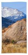 Red Rock And Pikes Peak Bath Towel