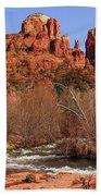 Red Rock Crossing Sedona Arizona Bath Towel