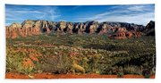 Red Rock Pano Hand Towel