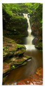 Red Rocks And Lush Green Forest Bath Towel