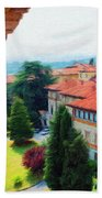 Red Roofs Bath Towel
