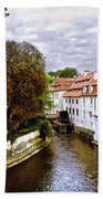 Red Roofs Of Prague - 2015 Bath Towel