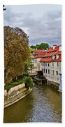 Red Roofs Of Prague Bath Towel
