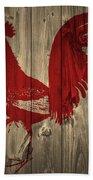 Red Rooster Barn Door Bath Towel