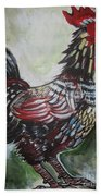 Red Rooster Bath Towel