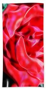 Red Rose Fractal Bath Towel