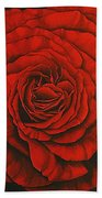Red Rose II Bath Towel
