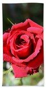 Red Rose Landscape Bath Towel