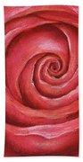 Red Rose Pastel Painting Bath Towel