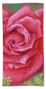 Red Rose With Yellow Lady's Mantle Bath Towel