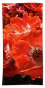 Red Roses Botanical Landscape 1 Red Rose Giclee Prints Baslee Troutman Bath Towel