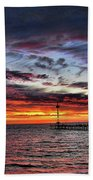 Red Sky Bath Towel