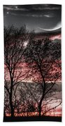 Red Sky Moon Bath Towel