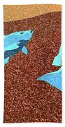 Red Snapper Inlay Sunny Day Invert Bath Towel