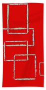 Red Squares Bath Towel