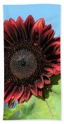 Red Sunflower Hand Towel