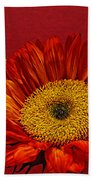 Red Sunflower Viii Bath Towel